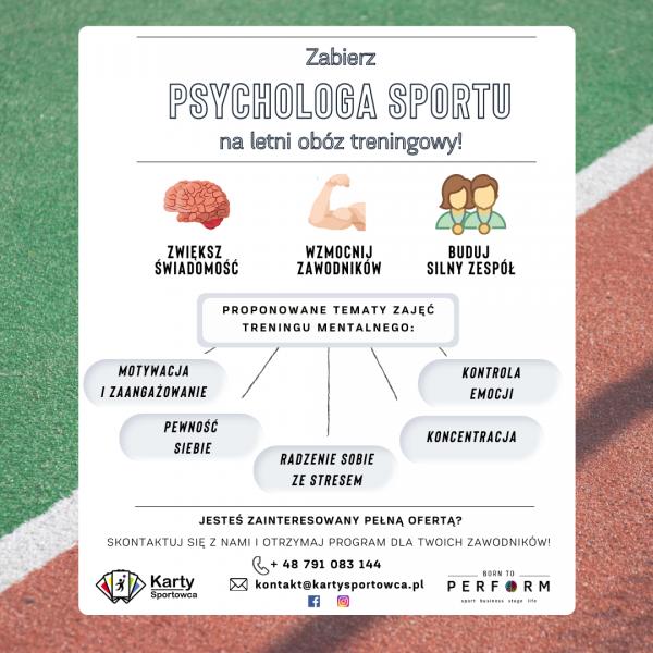 psycholog sportu psycholog sportowy karty sportowca
